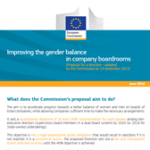 Factsheet June 2014: Improving the gender balance in company boardroom