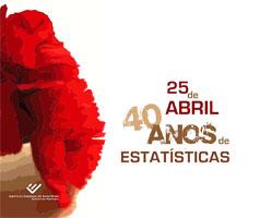 25 de Abril - 40 anos de estatísticas