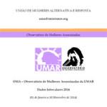 Relatório Preliminar do Observatório das mulheres assassinadas, UMAR