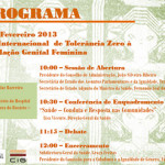 Celebração do Dia Internacional da Tolerância Zero contra a Mutilação Genital Feminina
