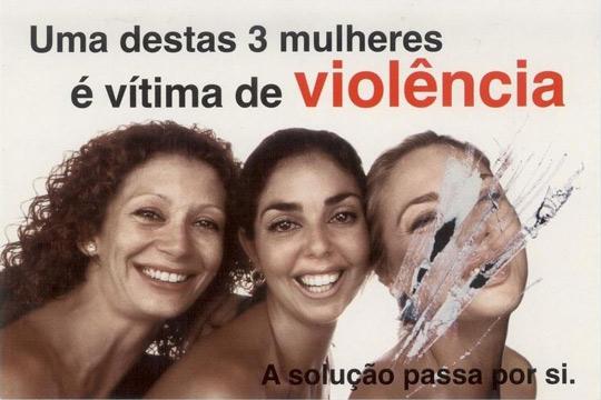 Uma destas três mulheres é vítima de Violência Doméstica