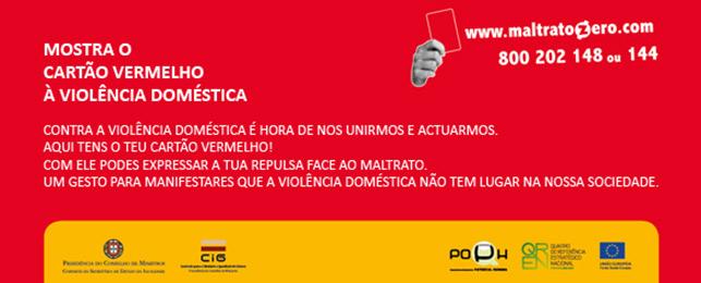 Mostra o Cartão Vermelho à Violência Doméstica