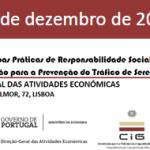 Workshop sobre «Boas Práticas de Responsabilidade Social das Empresas: Sensibilização para a Prevenção do Tráfico de Seres Humanos» (17 dez., Lisboa)
