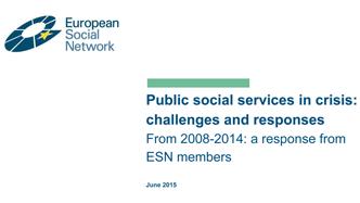 ESN Publica Relatório «Serviços Sociais Públicos Face à Crise: Desafios e Respostas»
