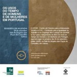 Lançamento do Livro: «Os Usos do Tempo de Homens e Mulheres em Portugal»