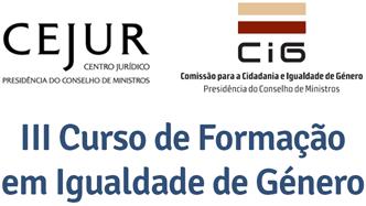 III Curso de Formação em Igualdade de Género (início a 27 jan., Lisboa)