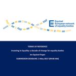 EQUINET: candidaturas para estudo sobre os organismos nacionais para a igualdade (até 2 maio)