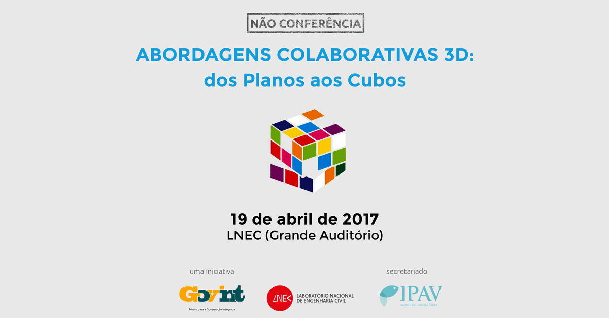 """Abordagens colaborativas 3D: dos planos aos cubos"" (19 abr., Lisboa)"