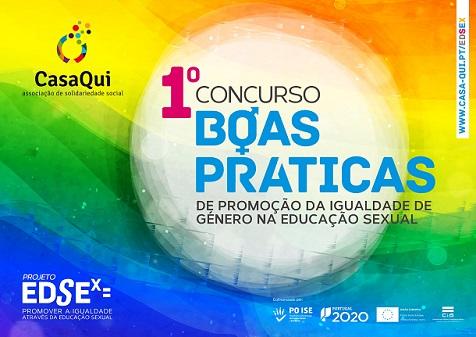 1.º EdSex= : Concurso de Boas Práticas de Promoção da Igualdade de Género na Educação Sexual (17 maio-30 set.)