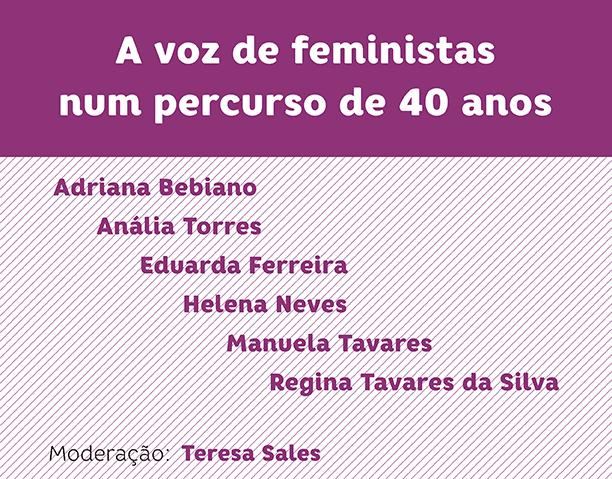 """Seminário """"A voz das feministas num percurso de 40 anos"""" (8 jul., Lisboa)"""