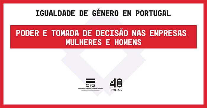 Poder e tomada de decisão nas empresas em Portugal: infografia