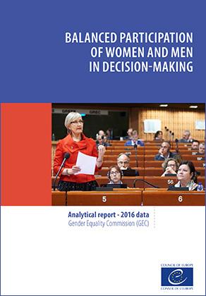 """Conselho da Europa: Publicação do relatório """"Balanced participation of women and men in decision making"""""""