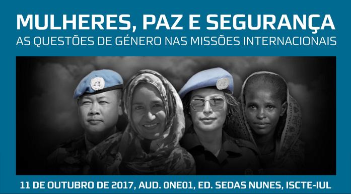 """Seminário """"Mulheres, paz e segurança"""" (11 out., Lisboa)"""