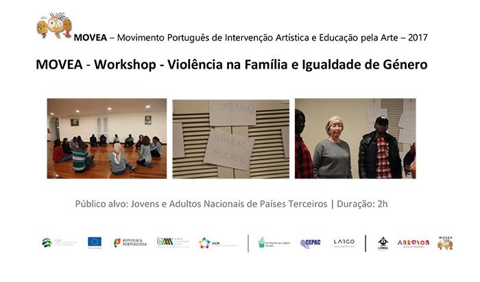 """Workshop """"Violência na família e igualdade de género"""" (9 dez., Lisboa)"""