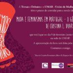 """Apresentação pública do livro """"Moda e feminismos em Portugal: o género como espartilho"""" (9 fev., Lisboa)"""