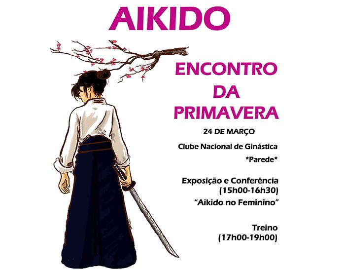 """""""Aikido no feminino"""": conferência e exposição de pintura (24 mar., Parede)"""