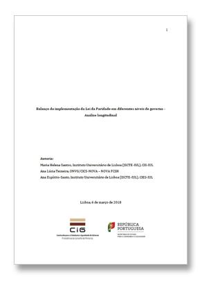 Balanço da implementação da Lei da Paridade em diferentes níveis de governo: análise longitudinal