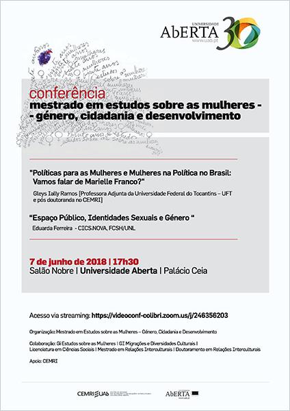 Conferência do Mestrado em Estudos sobre as Mulheres, Univ. Aberta – dia 7
