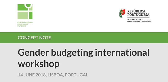 Workshop Internacional sobre Orçamentos Sensíveis ao Género