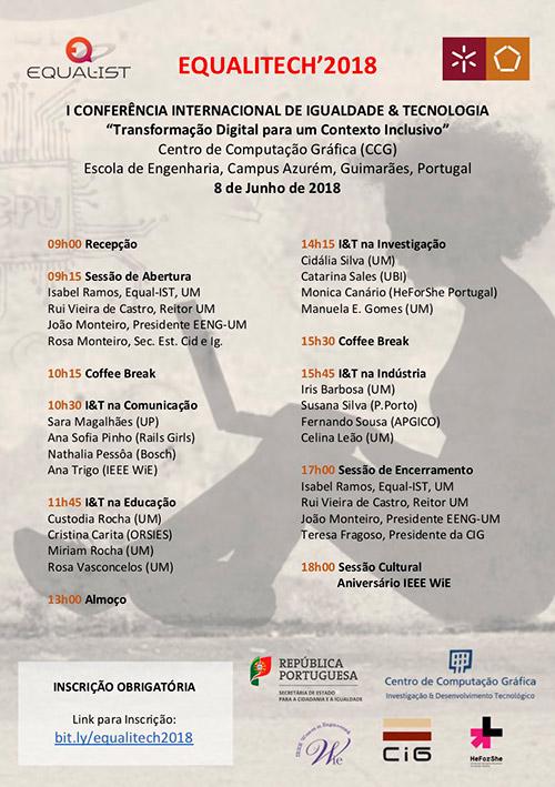 Iª Conferência Internacional de Igualdade & Tecnologia, em Guimarães