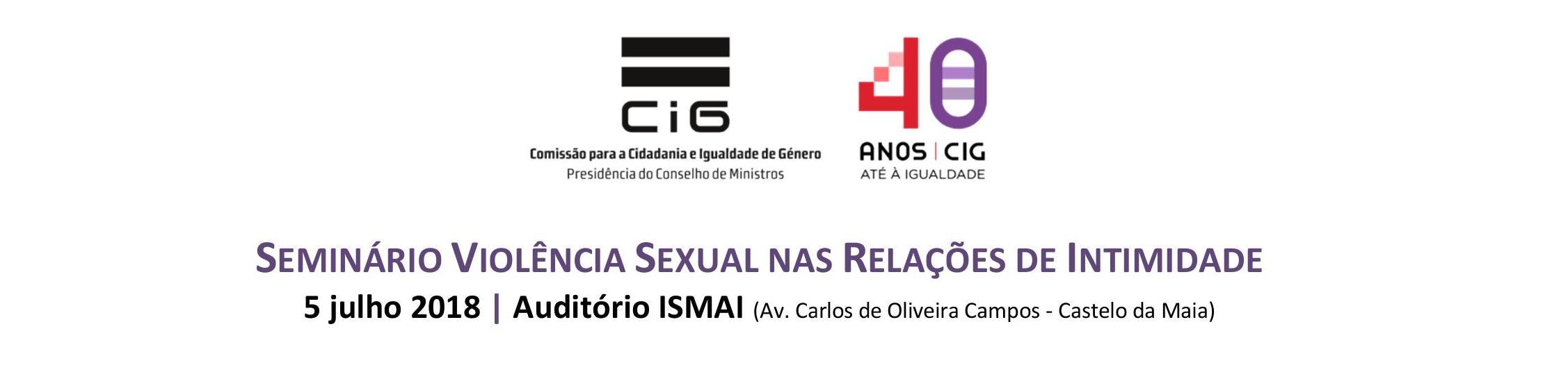 """Seminário """"Violência Sexual nas Relações de Intimidade"""", na Maia"""