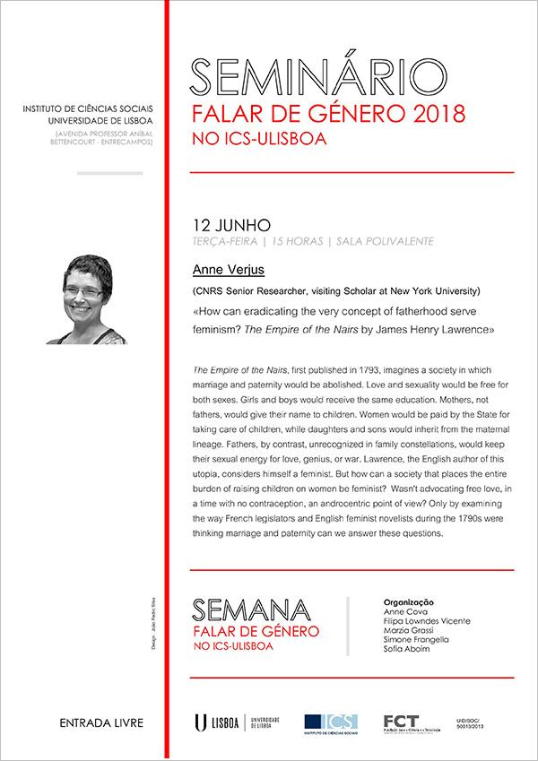 Seminário de Anne Verjus no ISC-Univ. de Lisboa – 12 Junho