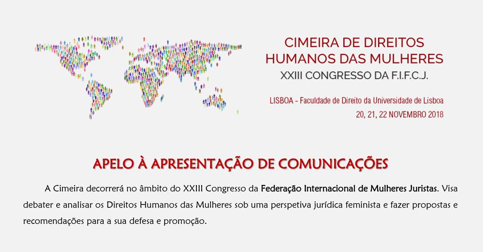 Cimeira dos Direitos Humanos das Mulheres – envio de comunicações