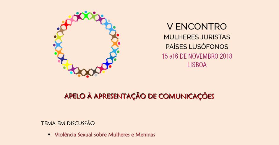 V Encontro de Mulheres Juristas dos Países Lusófonos – envio de comunicações