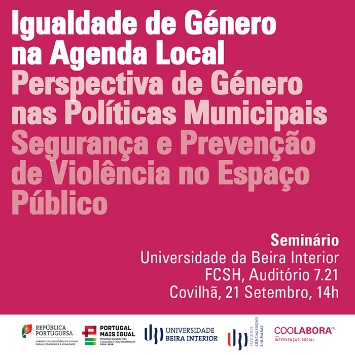 Seminário «Igualdade de Género na Agenda Local» na Univ. Beira Interior