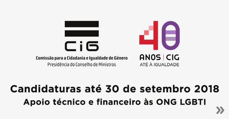Candidaturas até 30 de setembro 2018 – Apoio técnico e financeiro às ONG LGBTI
