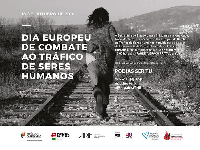 Lançamento da campanha «Tráfico de Seres Humanos» - Convite