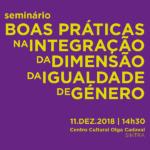 Seminário «Boas Práticas na Integração da Dimensão da Igualdade de Género» em Sintra