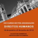 Inscrições abertas Pós Graduação em Direitos Humanos – Coimbra