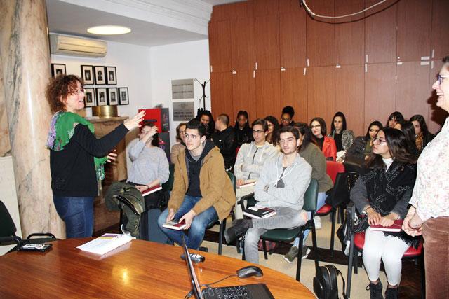 Visita da Escola Técnica de Apoio Psicossocial de Lisboa