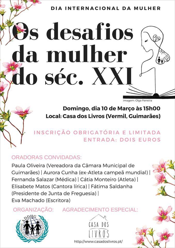 """""""Desafios da Mulher do século XXI"""" – Guimarães, dia 10 de março"""