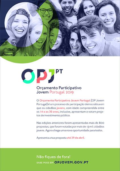 Apresentação de propostas até 29 de abril para Orçamento Participativo Jovem Portugal