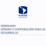 Seminario de Género y Cooperación para el Desarrollo, entre agosto e setembro