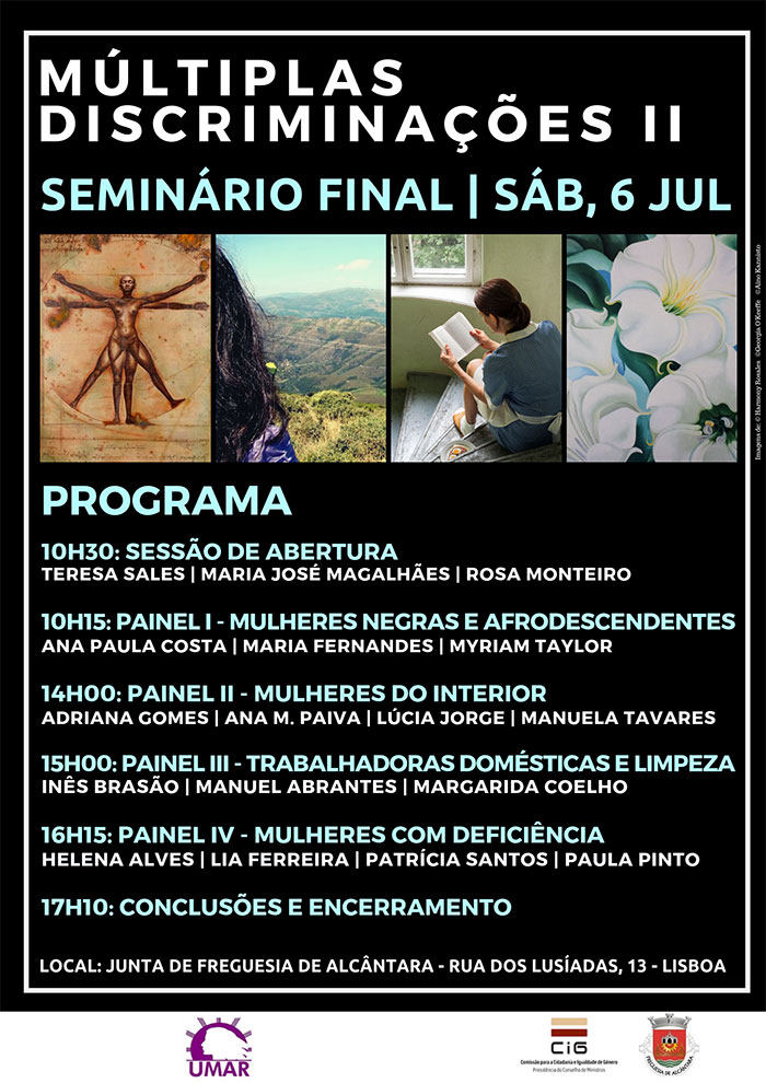 Seminário «Memória e Feminismos. Múltiplas Discriminações II» - Lisboa, 6 de julho