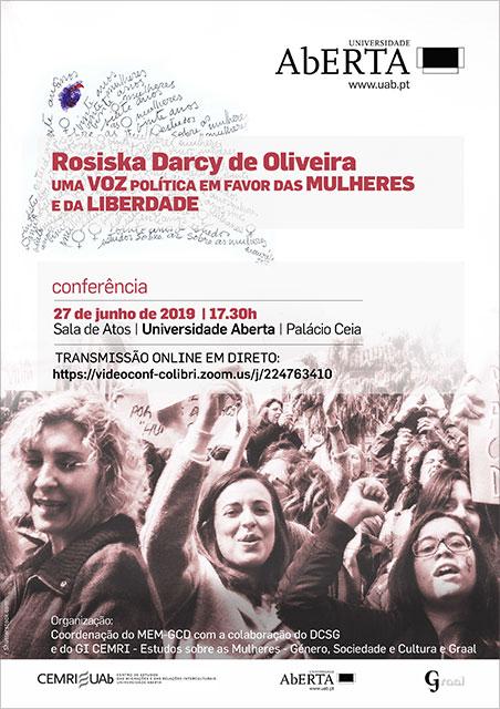 Conferencia sobre Rosiska Darcy de Oliveira, 27 de junho, Lisboa