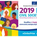 Candidaturas abertas: Prémio Sociedade Civil do Comité Económico e Social Europeu