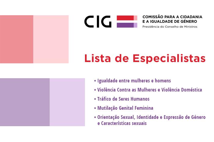 Comissão para a Cidadania e Igualdade de Género lança Lista de Especialistas
