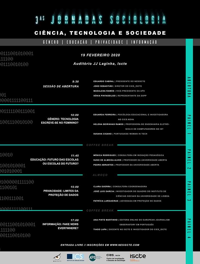Jornadas de Sociologia – Pensar o futuro, 19 de fevereiro, Lisboa