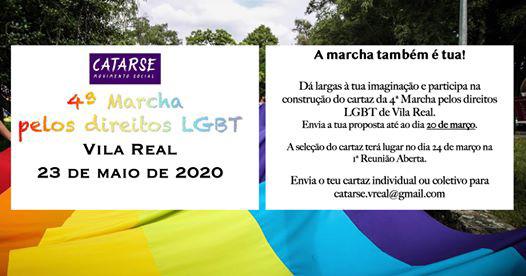 4ª Marcha pelos direitos LGBT em Vila Real – 23 de maio, Vila Real