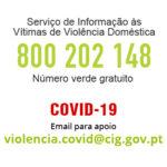 Covid-19 – Novo email para apoio na área da violência doméstica