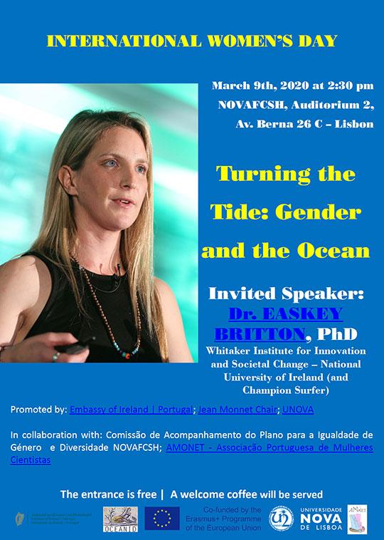 """Turning the Tide: Gender and the Ocean""- 9 de março, Lisboa"