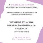 """ART'THEMIS e UMAR realizam Webinar """"Desafios atuais na prevenção primária da violência"""""""