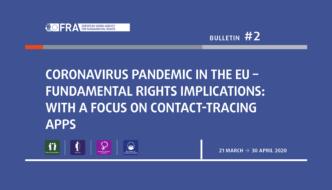FRA publica segundo relatório sobre a COVID-19 na UE e as suas implicações nos direitos fundamentais