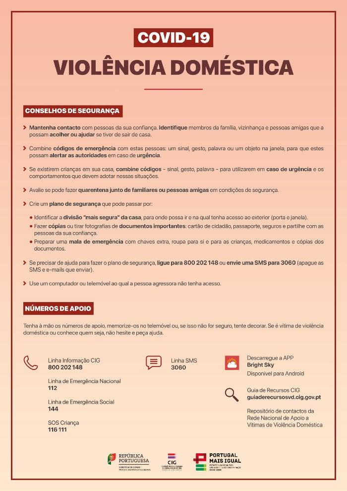 covid-19 concelhos de segurança e números úteis - 14 dezembro 2020
