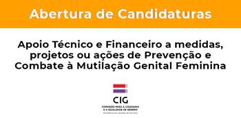 Apoio Técnico e Financeiro ao desenvolvimento de medidas, projetos ou ações de Prevenção e Combate à Mutilação Genital Feminina