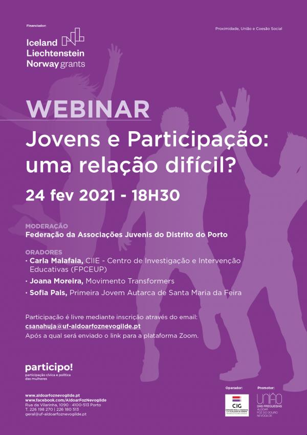 Webinar «Jovens e Participação: uma relação difícil?»